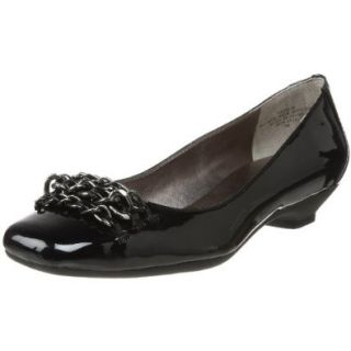 AK Anne Klein Women's Julie Ballet Flat,Black Patent,7 M US Shoes