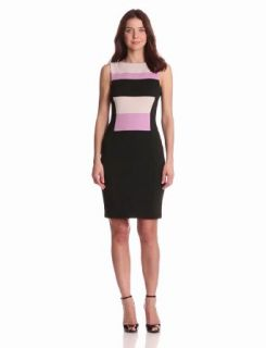 Maggy London Women's Colorblock Sleeveless Scuba Dress, Freesia Combo, 6