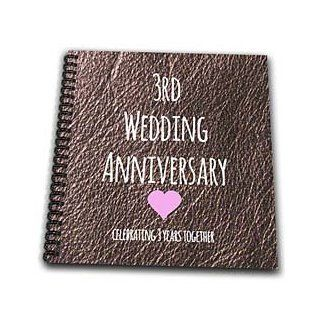 3dRose db_154430_2 3rd Wedding Anniversary Gift Leather Celebrating Together Memory Book, 12 by 12 Inch   Scrapbooks