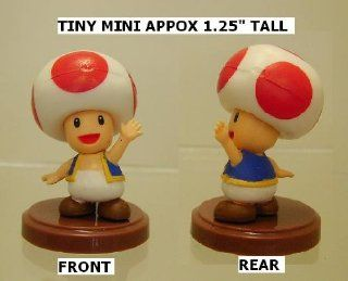 "Furuta Super Mario Toad Figure ( Tiny Mini 1.25"" Tall) Toys & Games"