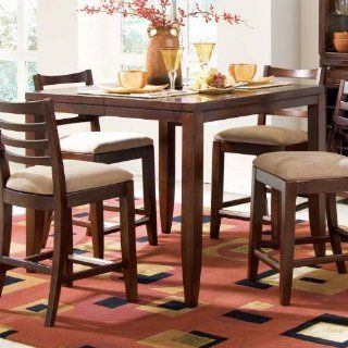 American Drew 912706 Tribecca Counter Height Pub Table in Root Beer 912706   Home Bars
