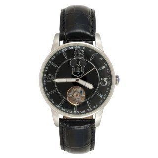 Mickey Mouse Men's Automatic Black Open Heart Watch MCK726 Watches