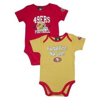 NFL San Francisco 49Ers Boy's Short Sleeve Bodysuit, 3 6 Months, Red  Infant And Toddler Sports Fan Apparel  Clothing