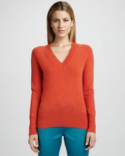 V Neck Cashmere Sweater, Womens