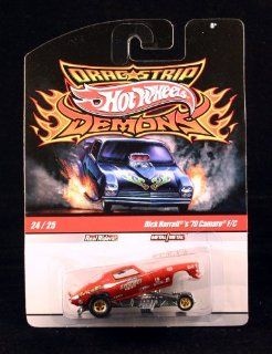 DICK HARRELL'S '70 CAMARO F/C * #24 of 25 * Hot Wheels 2010 DRAGSTRIP DEMONS Racing Series 164 Scale Vehicle Toys & Games