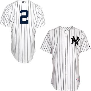 Majestic Athletic New York Yankees Derek Jeter Authentic Home Jersey   Size