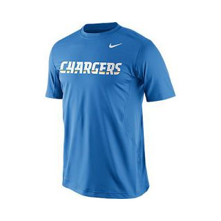 NIKE Mens San Diego Chargers Dri FIT Hypercool Speed Short Sleeve T Shirt