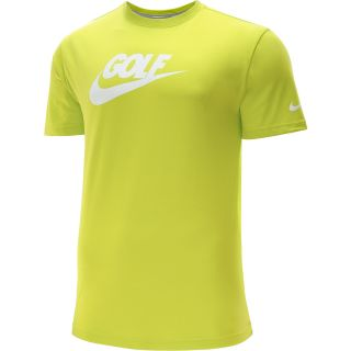 NIKE Mens Sport Golf Short Sleeve T Shirt   Size Xl, Venom Green
