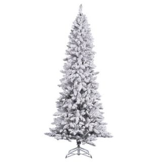 Vickerman Flocked Pencil Pine Christmas Tree