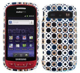 For Samsung Admire Vitality R720 Case Cover   Black Dark Green Polka Dots in Square TP1274 Cell Phones & Accessories