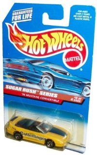 Mattel Hot Wheels 1997 Sugar Rush Series 164 Scale Die Cast Metal Car # 4 of 4   Nestle Butterfinger Yellow Sport Coupe 1996 Mustang Convertible (Collector No. 744) Toys & Games