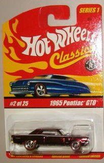Hot Wheels Classic Series 1 1965 Pontiac GTO #2 of 25 164 Scale Collectible Die Cast Car with a Special Spectraflame Paint Toys & Games