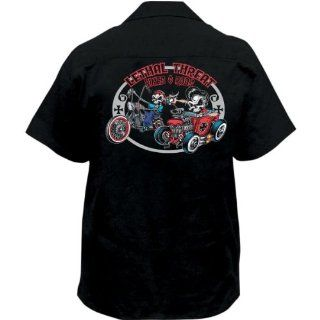 Lethal Threat Bikes and Rods Work Shirt , Gender Mens/Unisex, Primary Color Black, Size 2XL FE50137XXL Automotive