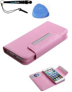 IMAGITOUCH(TM) 3 Item Combo APPLE iPhone 5 5S Pink Book Style MyJacket Wallet (with Pink Tray) (731) (Stylus pen, Pry Tool, Phone Cover) Cell Phones & Accessories