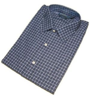 Polo Ralph Lauren Mens Dress Shirt Curham Classic Fit Blue Navy 1X Big Clothing