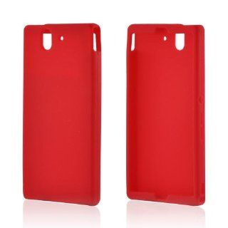 Red Sony Xperia Z Silicone Case Cover [Anti Slip] Supports Premium High Definition Anti Scratch Screen Protector; Best Design with High Quality; Coolest Soft Flexible Silicon Rubber Case Cover for Xperia Z Supports Sony Z Devices From Verizon, AT&T, Sp