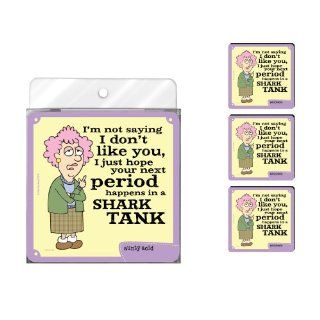 Tree Free Greetings NC37782 Aunty Acid 4 Pack Artful Coaster Set, Shark Tank Kitchen & Dining