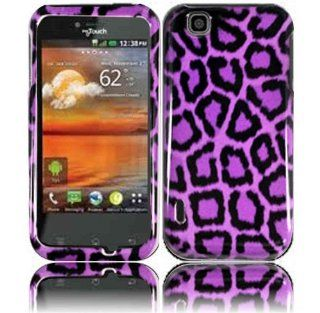 Purple Leopard Hard Case Cover for T Mobile Mytouch LG Maxx Touch E739 Cell Phones & Accessories
