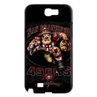 NFL San Francisco 49ers Mascot Samsung Galaxy Note 2 N7100 Case Slim Protective Case Cover black&white Cell Phones & Accessories