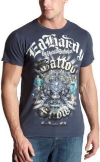 Ed Hardy Men's Short Sleeve Foiled T Shirt, Navy, Small at  Men�s Clothing store Fashion T Shirts