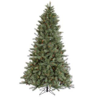 7.5' Pre Lit Blue Albany Spruce Artificial Christmas Tree   Dura Lit Multi Color Lights   Vco Artificial Tree Duralit Multi