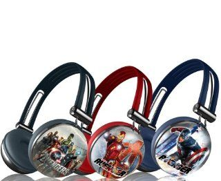 Marvel's 3 Pack Avengers Assemble Aviator Stereo Headphones   IRON MAN, CAPTAIN AMERICA, and AVENGERS TEAM Electronics