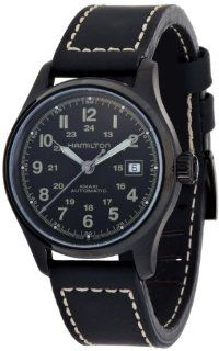 Hamilton Men's H70585733 Khaki Field Black Day Date Dial Watch Hamilton Watches