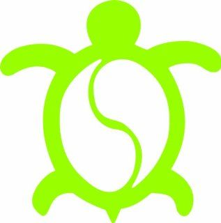 "HONU TURTLE Hawaii Sea Turtle 4"" (color LIME GREEN) Vinyl Decal Window Sticker for Cars, Trucks, Windows, Walls, Laptops, and other stuff."