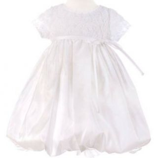 Sweet Kids Girls White Floral Taffeta Flower Girl Occasion Dress 3T Special Occasion Dresses Clothing