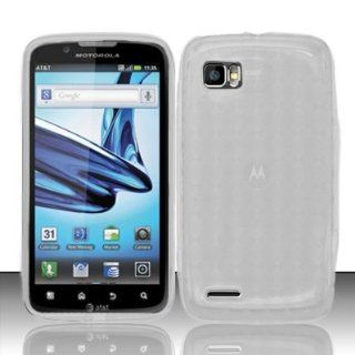 Motorola Atrix 2 MB865 Case Clear Ultra Flex Tight TPU Gel Cover Protector (AT&T) with Free Car Charger + Gift Box By Tech Accessories Cell Phones & Accessories