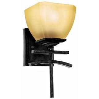 Yosemite Home Decor 94671VB Sentinel Wall Sconce Vanity with Amber Scavo Shade, 1 Light, Venetian Bronze