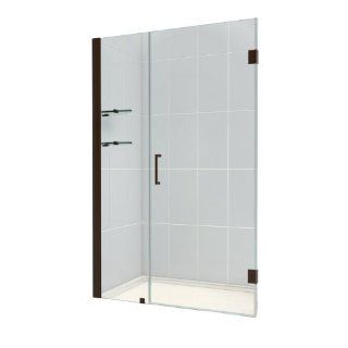 DreamLine SHDR 20477210S 06 Unidoor Frameless Hinged Shower Door, 47 to 48 Inch, Oil Rubbed Bronze Finish