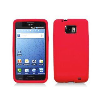 Red Soft Silicone Gel Skin Cover Case for Samsung Galaxy S2 S II AT&T i777 SGH i777 Attain i9100 Cell Phones & Accessories