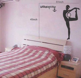 Large  Easy instant decoration wall sticker wall mural Sport boy girl adault room decal SPS128 gym gymnastic Kitchen & Dining