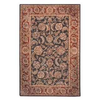 Safavieh Classic CL758P Area Rug   Dark Olive/Red