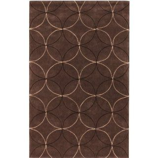 Surya Cosmopolitan COS 8868 Transitional Hand Tufted 100% Polyester Hot Cocoa 8' x 11' Geometric Area Rug   Machine Made Rugs