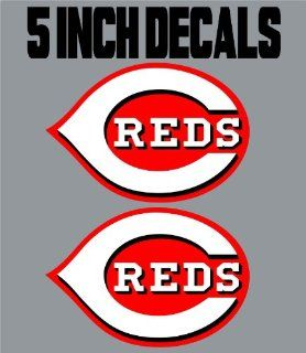 "50 Qty 5"" Cincinatti Reds Decal Wall Art Truck Window MLB Baseball   Wall Decor Stickers"