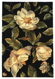 KAS Rugs 761 Catalina Magnolia Runner, 2 Feet 6 Inch by 8 Feet, Black   Area Rugs