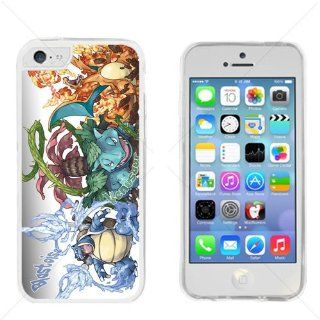 Pokemon Popular Venusaur Charizard Blastoise Apple iPhone 5C Transparent Gel TPU Case Cover Cell Phones & Accessories