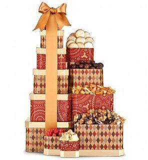 The Grand Gift Tower . (Gift Basket for Mom, Gift Baskets for Moms Birthday, Gift Baskets for Mothers Day, Gift Baskets for Expecting Moms, Gift Baskets, Gift Baskets for Mom, Gift Basket for Women, Gift Basket Food, Gift Basket for Birthday, Etc.) Everyt