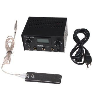 Pro LCD Digital DUAL Tattoo Machine Power Supply Kit With Clip Cord Foot Pedal Electronics
