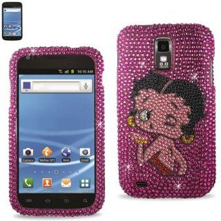 Tmobile Samsung Galaxy S2 Hercules (Model T989) BETTY BOOP Premium Pink Sparkling Design Diamond Bling Bedazzled Rhinestone Protector Cover + Betty Boop Novelty Collectible Million Dollar Bill Cell Phones & Accessories