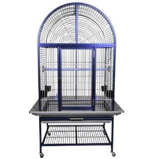 KINGS CAGES ACA 3325 ARCH TOP ALUMINUM PARROT CAGE bird toy toys african grey (BLUE, ARCH TOP)  Birdcages