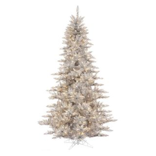 Vickerman Silver Fir Pre lit Christmas Tree   Christmas Trees