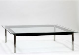 Modway Le Corbusier Square Metal Glass Top Coffee Table   Coffee Tables