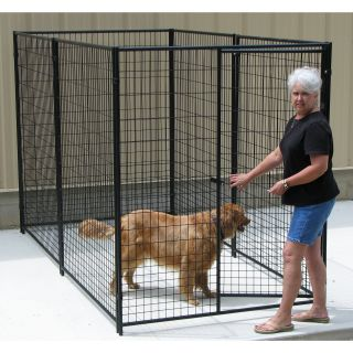 Options Plus Commercial Grade Welded Wire 8 Gauge Heavy Duty Kennel   Dog Kennels