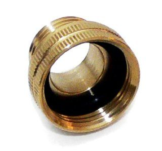 Underhill A BA107FM Solid Brass Hose Adapter, Converts 3/4 Inch Attachments to 1 Inch Hose, 1 Inch FHT by 3/4 Inch MHT  Garden Hose Parts  Patio, Lawn & Garden