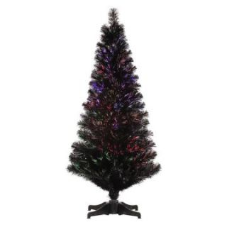 Vickerman 5 ft. Black Fiber Optic Christmas Tree   Christmas Trees