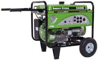 Lifan Energy Storm ES5500E CA 5500 Watt Lifan 11 HP OHV 337cc 4 Stroke Gas Powered Portable Genrator with Electric Start and Wheel Kit with Never Flat Foam Filled Tires (CARB Certified)  Power Generators  Patio, Lawn & Garden