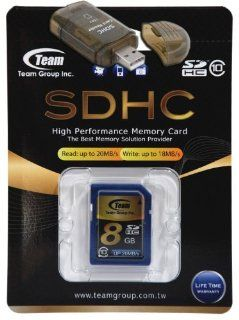 8GB Class 10 SDHC Team High Speed Memory Card 20MB/Sec. Fastest Card in the Market FOR Canon EOS Rebel T3 EOS Rebel T3i Cameras. A free High Speed USB Adapter is included. Comes with Lifetime Warranty.